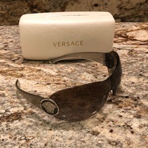 Versace sunglasses with swavorski crystal outline